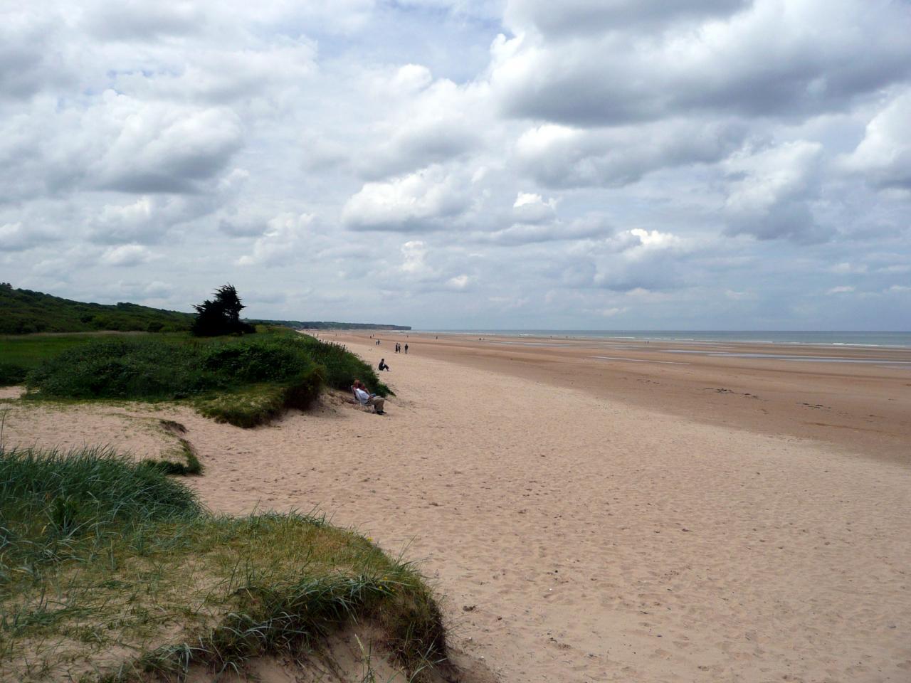 A Colleville sur mer, 8 km, les dunes